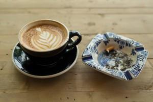 coffee and smoking