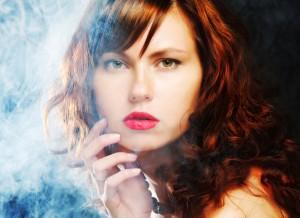 models and smoking