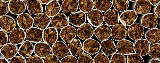 macro of cigarettes