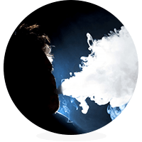 sub-ohm vaping person