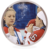 smoking sportswomen