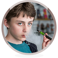 child vaping