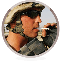 smoking veteran