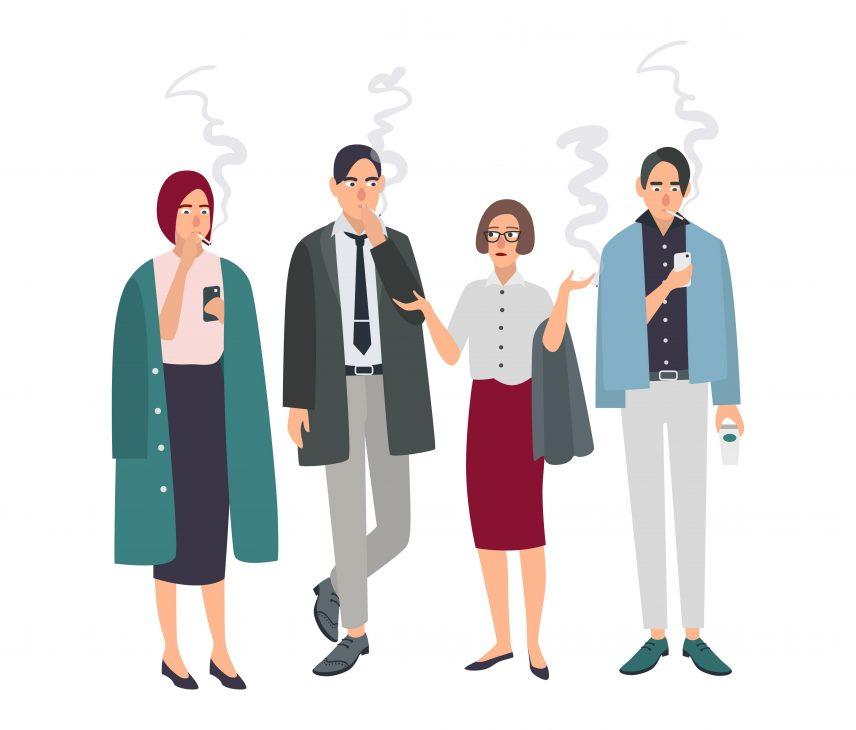 not join crowd smoking break