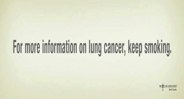 For more information on lung cancer keep smoking campaign