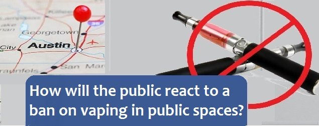 How will the public react to a ban on vapnig in public spaces?