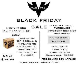 Vanval Vapor Black Friday Sale