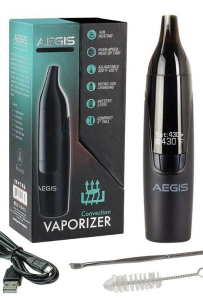 Atmos Aegis Vaporizer box and contents