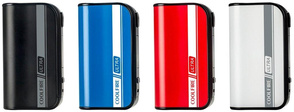 CoolFire ULTRA box mod 4 colors