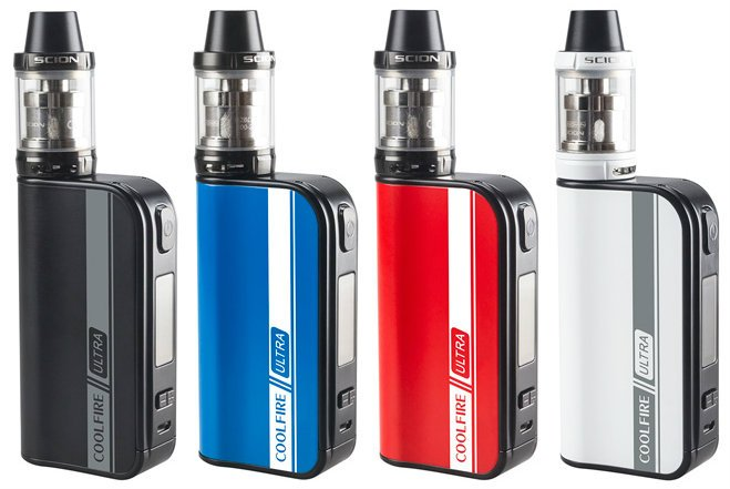 CoolFire ULTRA box mod kit 4 colors