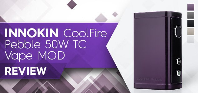 Innokin CoolFire Pebble 50W TC Vape MOD Review