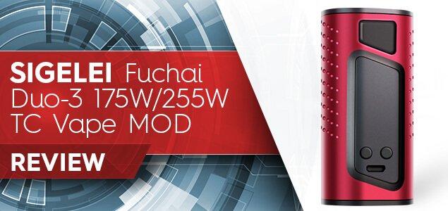 Sigelei Fuchai Duo-3 175W_255W TC Vape MOD Review