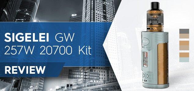 Sigelei GW 257W 20700 Kit Review