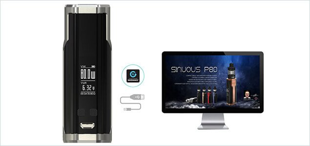 Wismec Sinuous P80 charging