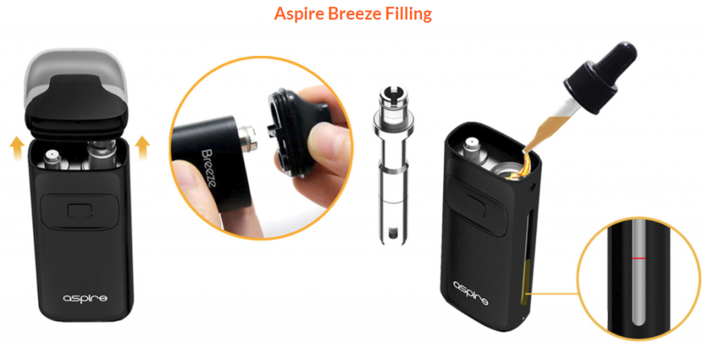 Aspire Breeze filling explained