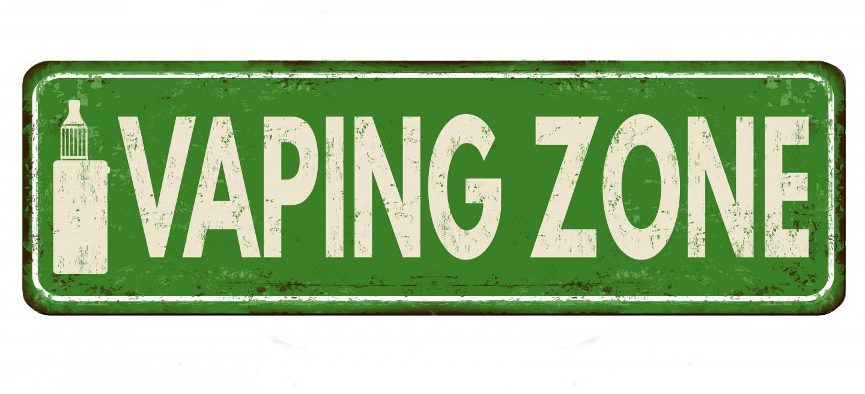 sign saying vaping zone