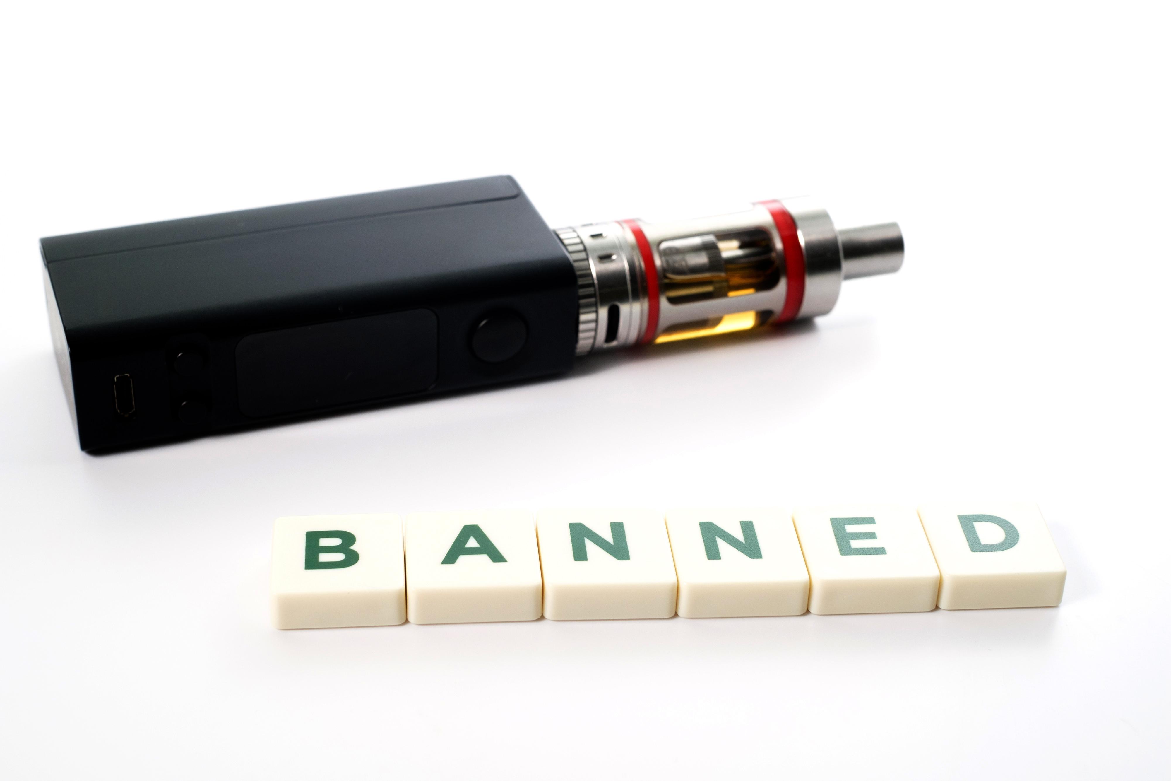 vaping banned