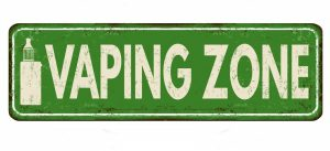 vaping zone sign