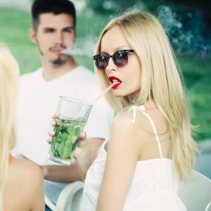 vaping people relax together