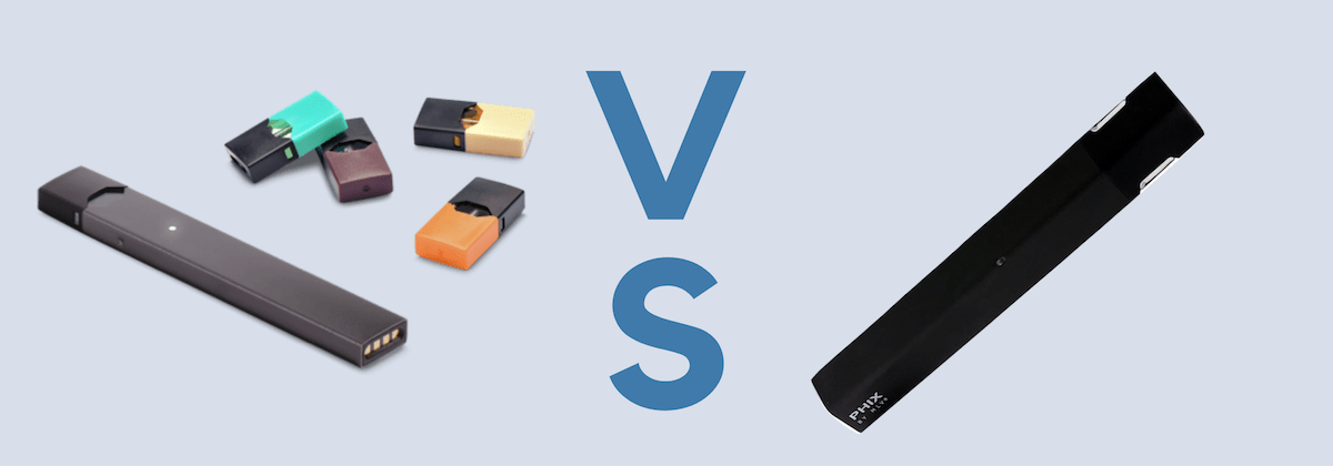 JUUL vs PHIX – An In-depth E-Cig Starter Kits Comparison