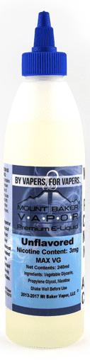 Mt. Baker Vapor Unflavored E-Juice Alt E-liquid