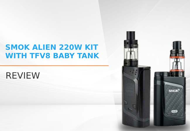 SMOK Alien 220W Kit with TFV8 Baby Tank Review image
