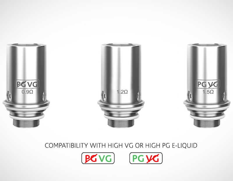v2 pro series 3x pg and vg atomizers