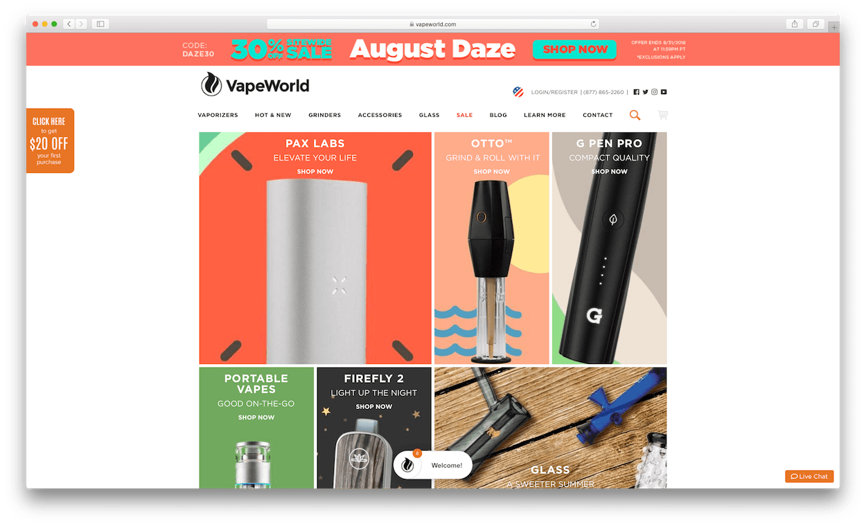 vapeworld website