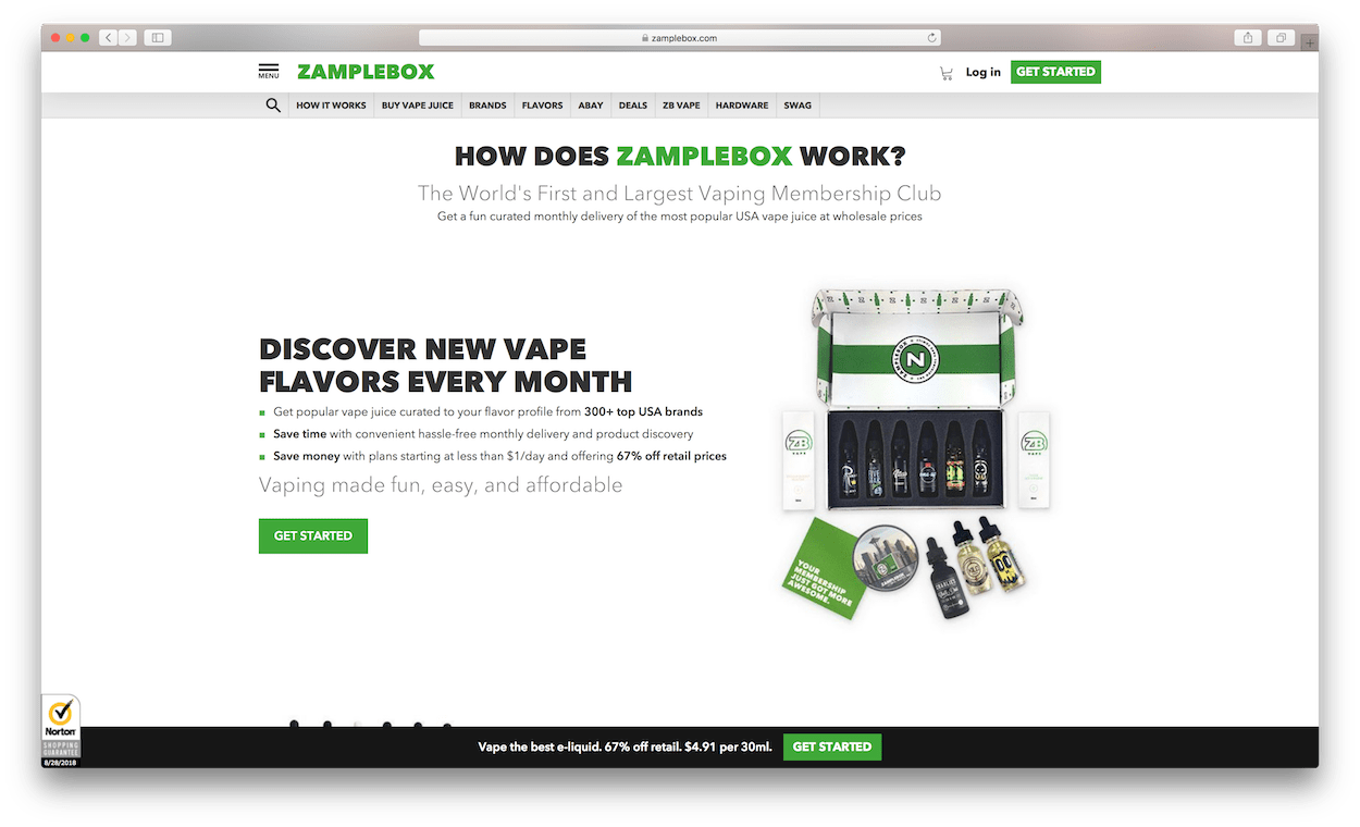zamplebox website