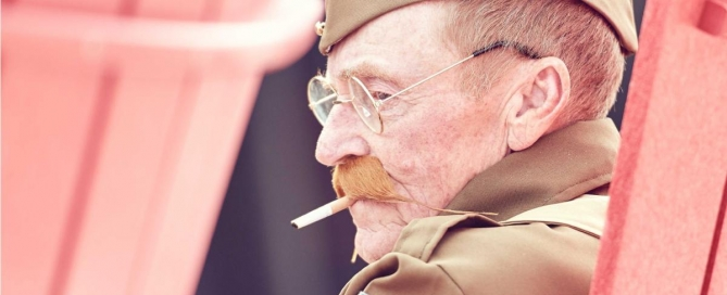 Cover of Article about harm from smoking for veterans image