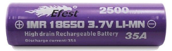 Efest IMR 18650 2500mAh 35A Battery image