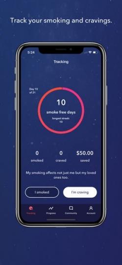 LIVESTRONG MY QUIT COACH App ScreenShot1