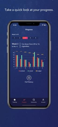 LIVESTRONG MY QUIT COACH App ScreenShot2