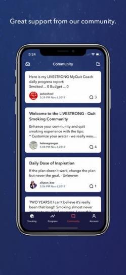 LIVESTRONG MY QUIT COACH App ScreenShot3
