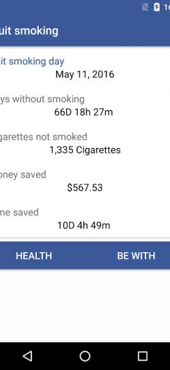 Quit Smoking App ScreenShot1