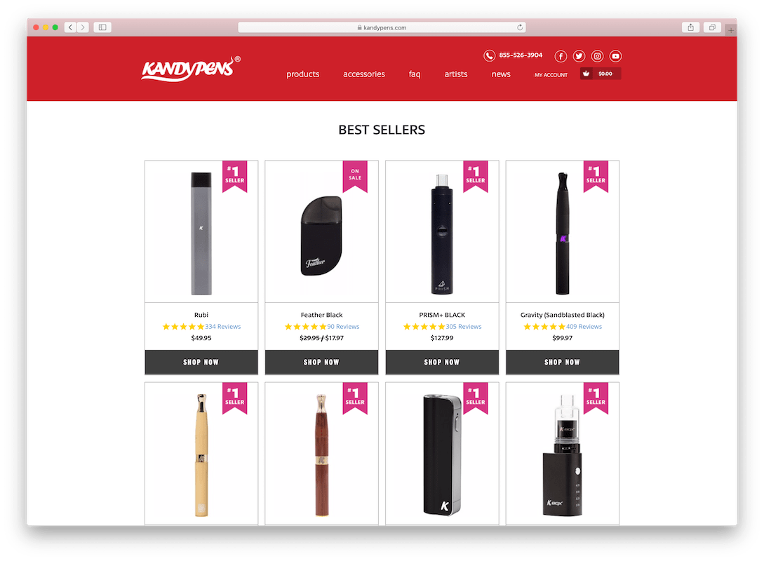 Kandy Pens Website