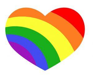 LGBTQ+ flag in heart