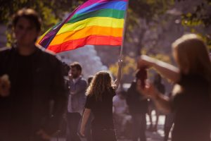 LGBTQ+ people on the parade