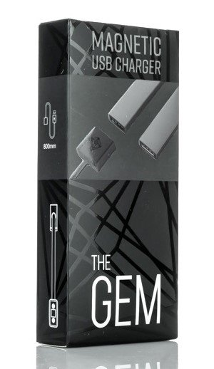 The GEM Magnetic JUUL USB Charger in the box