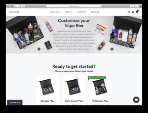 vape-box.com main page