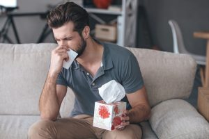 Man with Allergic
