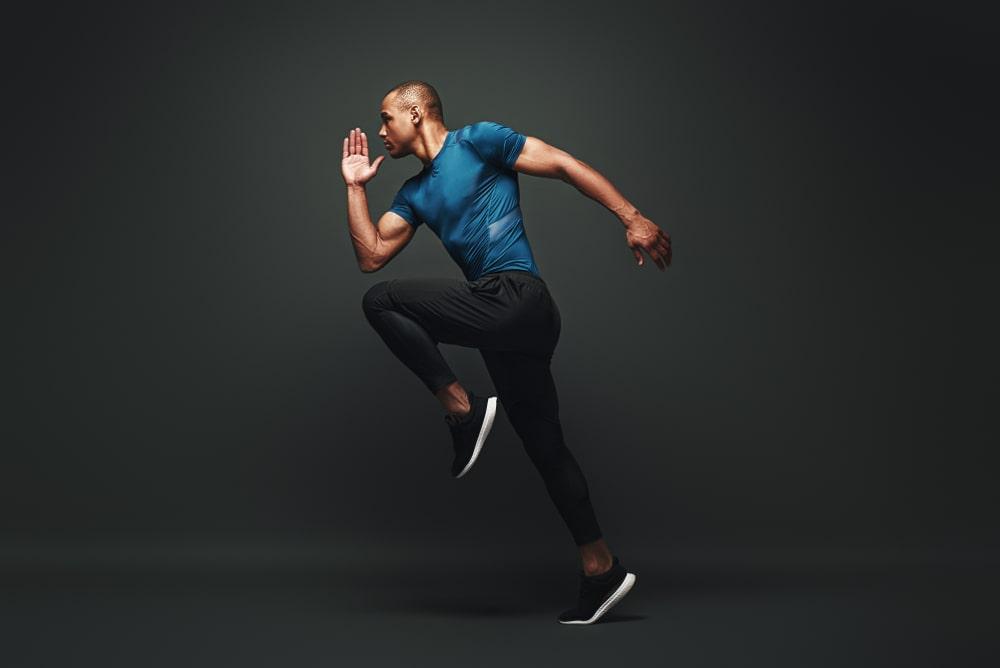 Sportsman jumping image