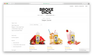 broke dick e juices online vape store