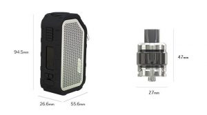 Wismec Active 80W sizes image
