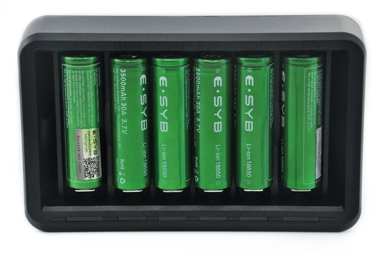 ESYB S6 6-Bay Vape Battery Charger image