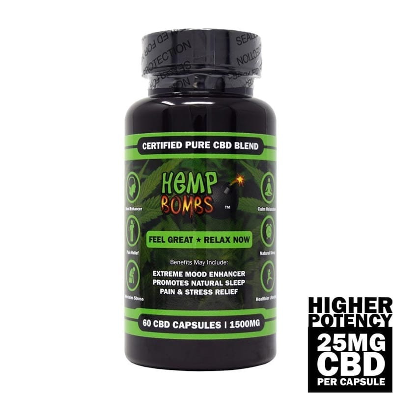 Hemp Bombs CBD Capsules High Potency