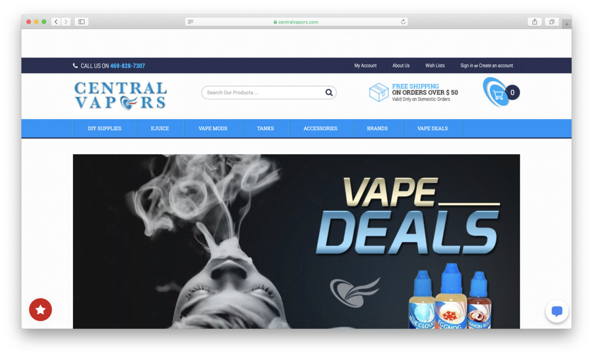 Central Vapors: An Affordable Texas-Sized Vape Inventory