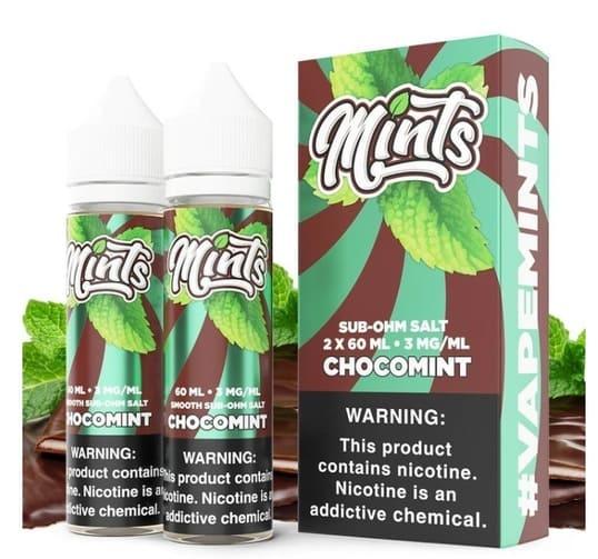 Mints chocomint sub-ohm salt