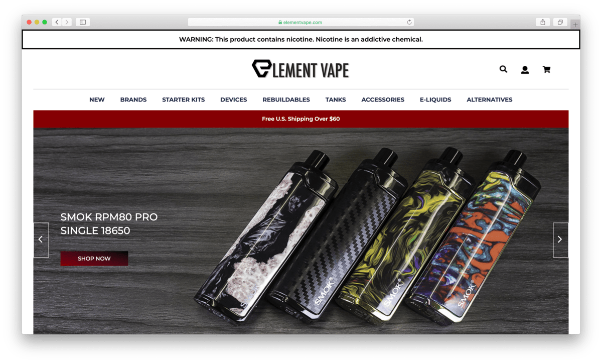 Element Vape Review: A Leader in Online Vape Shopping