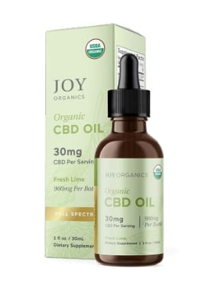 Joy Organic CBD Oil Tincture Fresh Lime